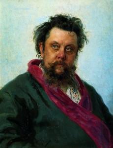 И. Е. Репин, портрет композитора М. П. Мусорского