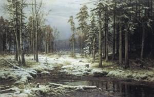 И. И. Шишкин, первый снег