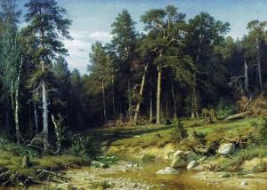 И. И. Шишкин, мачтовый лес в Вятской губернии