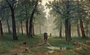 И.И. Шишкин, дождь в дубовом лесу