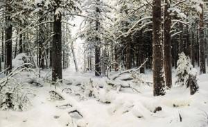 И.И. Шишкин, зима