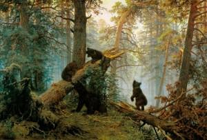 И. И. Шишкин, утро в сосновом лесу.